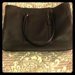 Vintage black Coach purse . Large